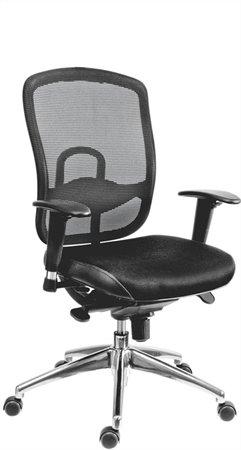 Főnöki szék, szövetborítás,fejtámla nélkül, hálós háttámla